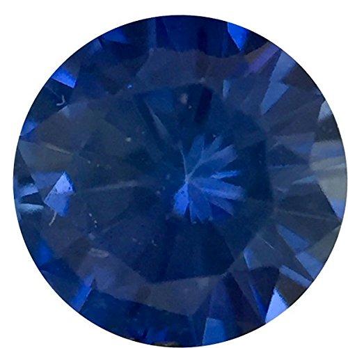 - Genuine Precision Cut Blue Sapphire Gem, Round Shape, Grade A, 3.75 mm in Size, 0.25 Carats