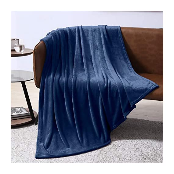 EXQ Home Fleece Blanket Navy Throw Blanket for Couch or Bed - Microfiber Fuzzy Flannel Blanket for Adults or Kids - All weather blanket! EXQ Home winter throw blankets are made of 260 GSM microfiber that can bring warmth and comfortable whether you're on the couch watching TV or reading in bed.(Measures:50 x 60 inches) Irreplaceable Choice! Are you disappointed that you have bought a shedding or pilling blanket?Do you think some blankets are too expensive?Fortunately,you have found us.EXQ Home flannel blanket have exquisite craftsmanship.We refuse to provide inferior products to customers. Perfect Gift! If you are searching for gifts.Our fuzzy blanket can satisfy you.It can be used for travel ,office or bedroom.The babys, adults or pets all will love it.Who would not like a furry blanket? - blankets-throws, bedroom-sheets-comforters, bedroom - 51WFuCi2yvL. SS570  -