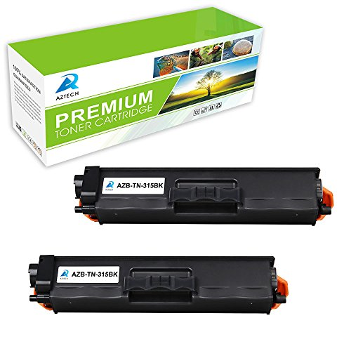 Aztech 2 Pack Replaces Brother TN315BK TN 315 TN-315 Black Toner Cartridge For Brother HL-4150CDN HL-4570CDW MFC-9560CDW MFC-9460CDW Printer
