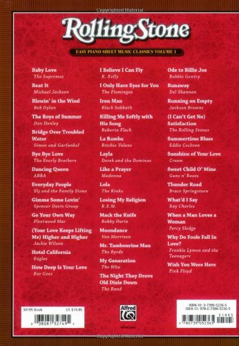 Rolling Stone Easy Piano Sheet Music Classics, Vol 1: 39 ... Rolling Stones Songs
