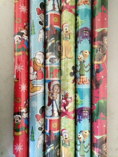 4 PACK: PIXAR & DISNEY ASSORTED BOY XMAS WRAPPING PAPER - Christmas Assorted Wrapping Paper