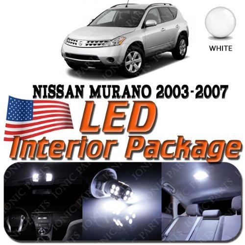 super-white-10-light-bulbs-led-smd-interior-package-nissan-murano-2003-2006