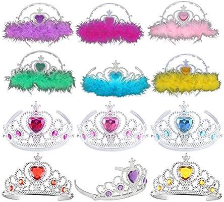 YeahiBaby Corona de Princesa con Pluma para Cumpleaños de ...