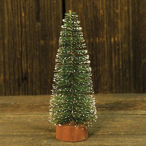 Heart of America Snowy Bottle Brush Pine Tree 12''