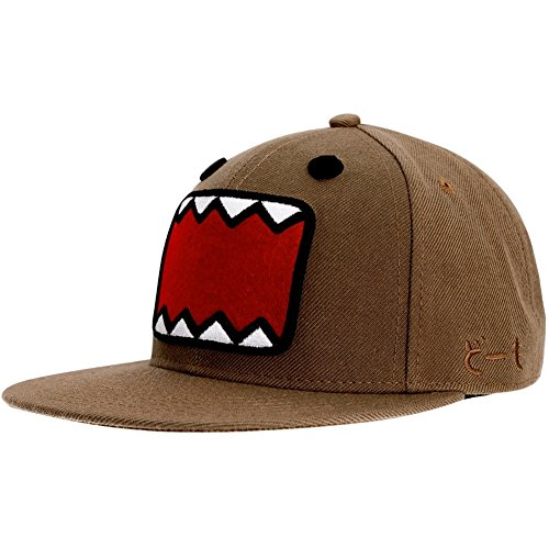 Domo - Small Face Fitted Brown Cap - Large/X-Large