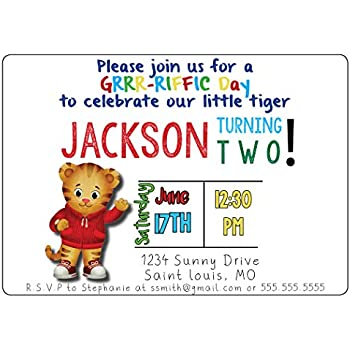 Amazoncom Daniel Tiger Party Supplies Invitations 8 Toys