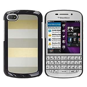 TopCaseStore / la caja del caucho duro de la cubierta de protección de la piel - Stripes Lines Grey Minimalist Clean - BlackBerry Q10