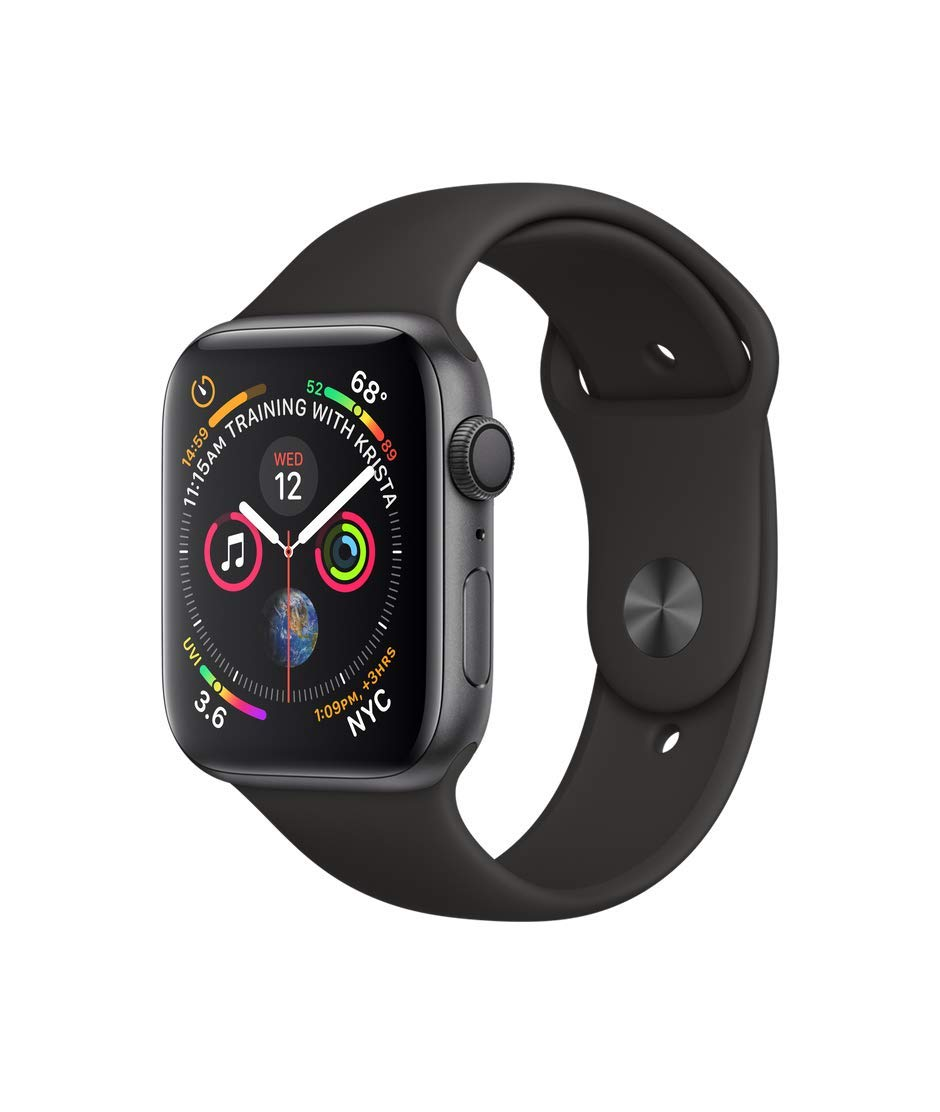 Apple Watch Series 2 Smartwatch 42mm Space Gray Aluminum Case White Sport Band (White Sport Band) (Renewed) by Apple