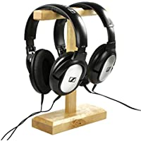 Favor Cosmos ® Wood Dual Headphones Stand for Bose QC15, Sony MDR-XB500, Sennheiser HD 202 II, Shure, Ultimate Ears,... occupation