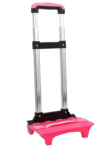 Trolley para Mochila - Aluminio de Mano Plegable Ruedas Trolley Escolar, Estilo-1,