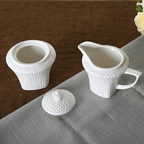 SOLECASA 7OZ&7.5OZ Porcelain Sugar and Creamer Set Microwava