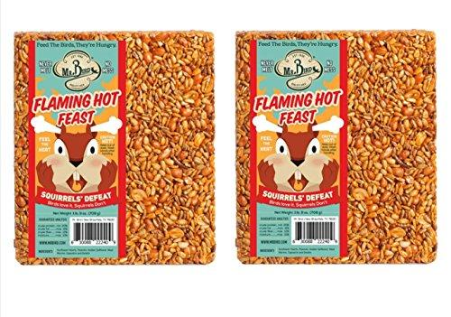 2-Pack of Mr Bird's Flaming Hot Feast Large Wild Bird Seed Block 1 lb. 9 oz. ()