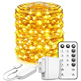 Govee Led Fairy Lights Bedroom, 66 Feet Fairy Lights Plug in, 200 LEDs Remote Control Fairy Lights with 8 Scence Modes 4 Timing Options USB Fairy Lights for Indoor Outdoor Decoration Warm White