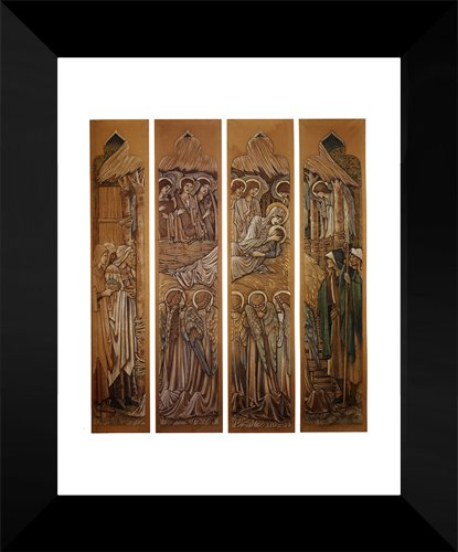 The Nativity, Cartoons For Stained Glass At St. David's Church, Hawarden 15x18 Framed Art Print by Burne Jones, Edward