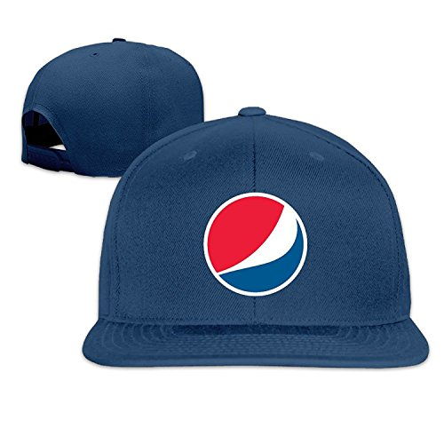 Unisex Pepsi Logo Adjustable Snapback Trucker Hat Navy One Size