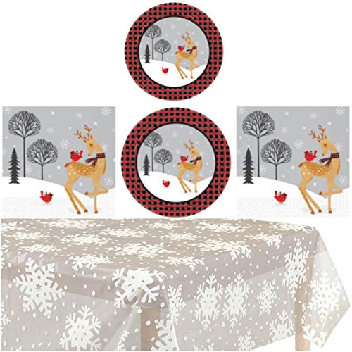 Winter Holiday Tableware Party Supply Pack! - Winter