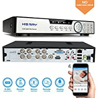 HISRAY 8CH 1080N AHD DVR 5-in-1 Hybrid (1080P NVR+1080N AHD+960H Analog+TVI+CVI) CCTV 8-channel HDMI QR Code Scan Easy Remote View Email Alerts Home Security Surveillance Camera System(No HDD)