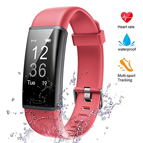 (Lintelek Fitness Tracker, Stopwatches Heart Rate Monitor Activity Tracker Sleep Monitor, Calories Step Counter IP67 Waterproof Smart Watch Wearable Device for Android iOS Men Women Kid Veryfitpro)