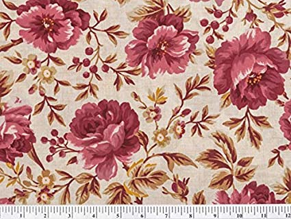 Boundless Heritage Home Americana Floral 1-Yard Fabric Cut Main Floral Cream 36x44 inches
