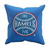 500 LEVEL's Cole Hamels Soft And Comfortable Throw Pillow For Texas Baseball Fans - Cole Hamels Ball B