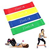 Latex Resistance Loop Bands Set of 3 Fitness Stretch Exercise Bands Crossfit Elastic Leg Training band for Strength Training, Stretch Therapy, Home Exercise, Yoga, Pilates & More - Workouts for Women and Men