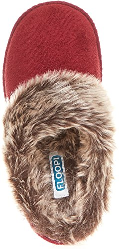 Floopi Outdoor W Indoor Clog Womens 305 Slipper Fur Lined Wine Tone Aztec Two Memory Foam ZwqwE1