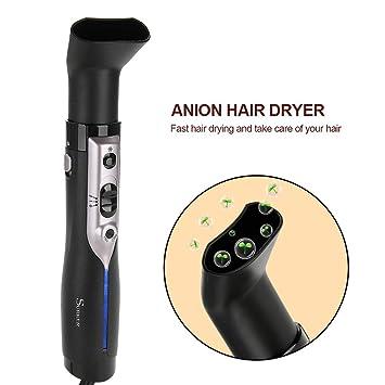 Cepillo Alisador de Pelo 3 en 1, 3 cabezales, Cepillo Secador Rizador de Aire Electrico Cepillo Pelo con Tecnología Iónica: Amazon.es: Belleza