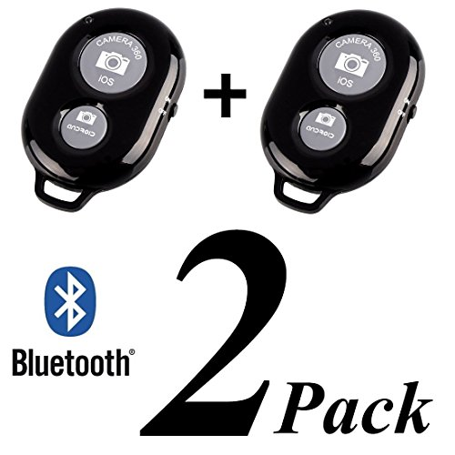 TBMax SK-04 Wireless Bluetooth Selfie Remote Control (2 Pack) Cute Gift to Share Your Joy, Portable Mini Self Portrait Camera Selfie Shutter Remote for Android Apple iPhone 6 5S 5C 5 4S Samsung Galaxy Note 4 3 S5 S4 S3 Google Nexus Sony Xperia Z3 Z2
