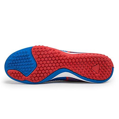 Camgo Herren Sport Flexible Athletic Light Weight Fußball Fußballschuhe Rot blau