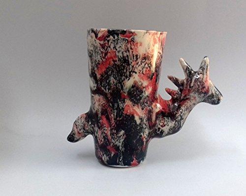 Taza para té o café de cerámica en forma de unicornio punk