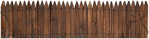 LJJSHOPS Valla Jardín Pequeña/Valla Decorativa/Bordes Jardin, Borde para Césped, Efecto Madera, Longitud 72-118Cm, Altura 15-60Cm, Marrón, A-25*118cm: Amazon.es: Jardín