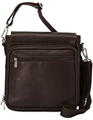 Piel Leather Double Loop Tablet Carry-All, Chocolate, One Size