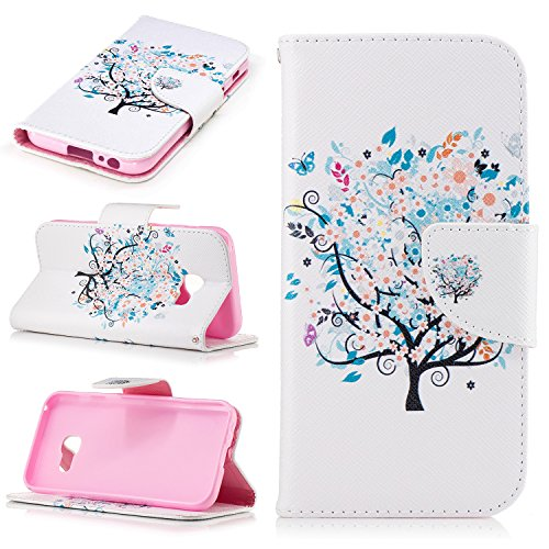 Galaxy A3 2017 Case, Beimu Kickstand Feature PU Leather Flip Fold Protective Card Holder Cases with Credit Card & ID Card Slot, Shockproof Cover for Samsung Galaxy A3 2017 SM-A320 4.7 Inch ()
