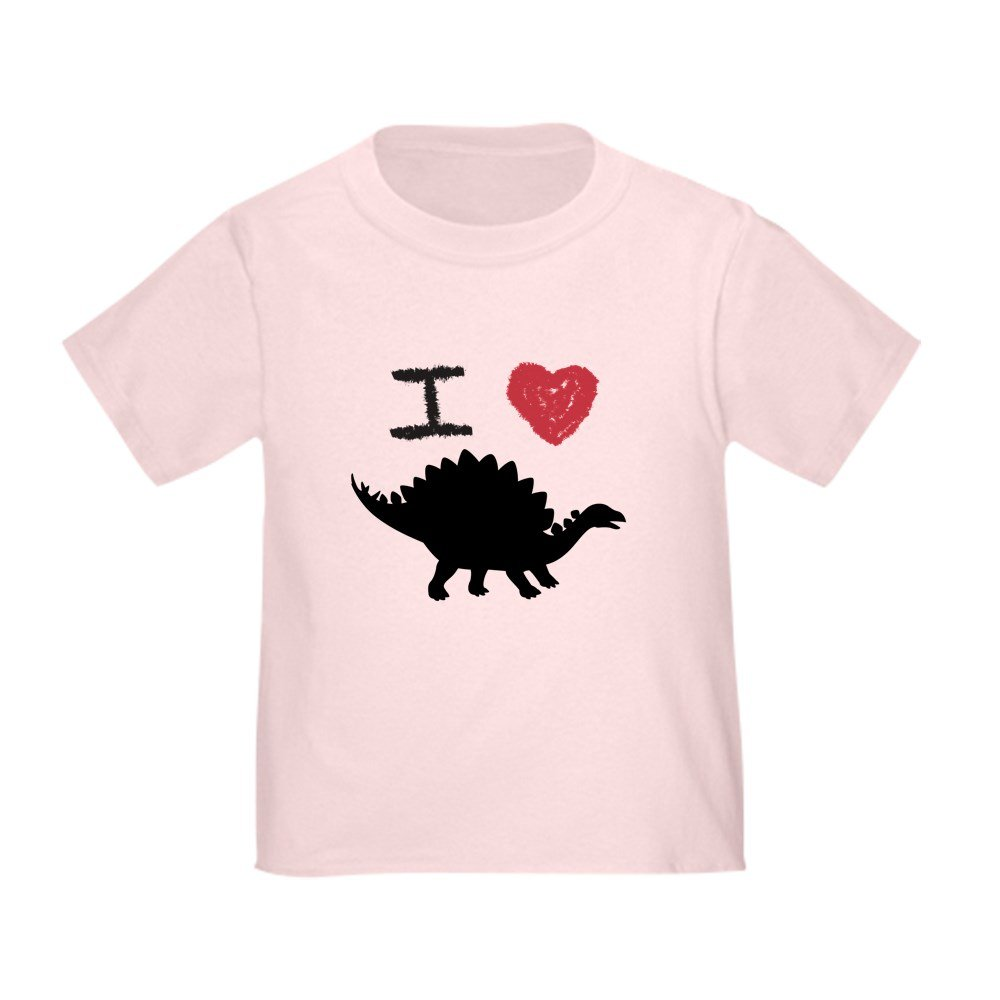 Stegosaurus Truly Teague Toddler T-Shirt I Love Dinosaurs