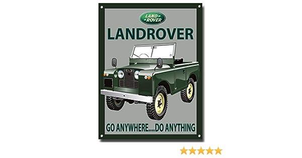 VINTAGE SIGN DESIGNS Land Rover Serie 2 Swb Letrero Met/álico con Acabado Esmaltado 210MM x 285MM x 1MM