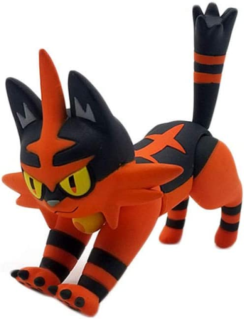 No Figura di Takara Tomy Litten /évolution Torracat Anime Figure poup/ées jouet Dessin anim/é Mignon Torracat Animal Figure poup/ées jouet
