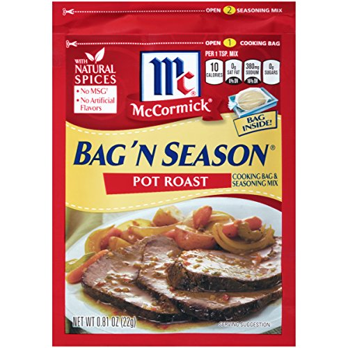 McCormick Bag 'n Season Pot Roast Cooking Bag & Seasoning Mix, 0.81 oz