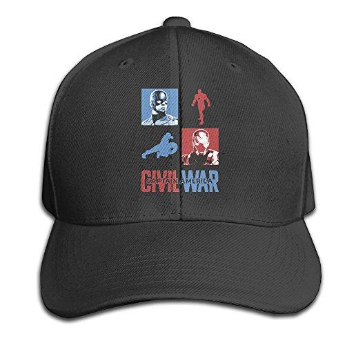 Civil War Clash Baseball Snapback Cap Black