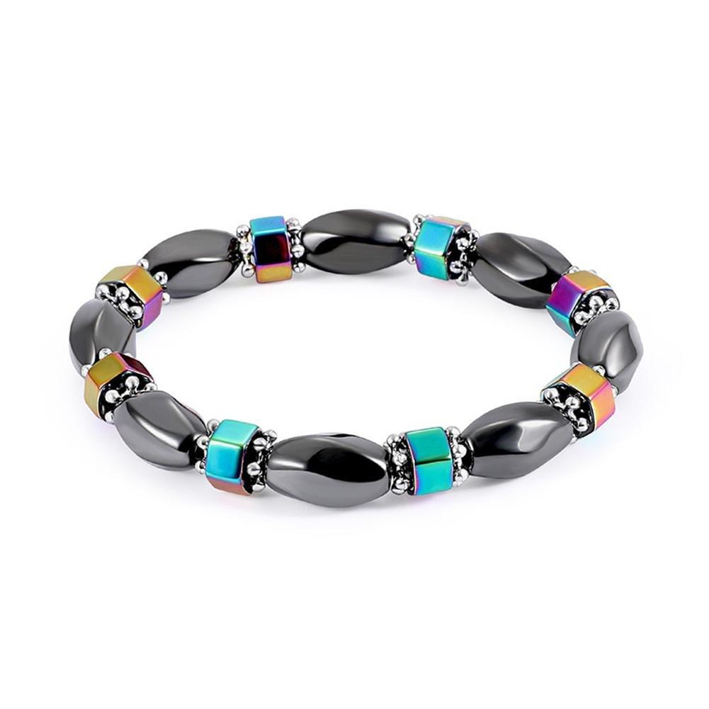 gioelleria per cristalloterapia Prosperveil con ematite bracciale magnetico unisex bracciale con perline