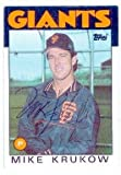 Mike Krukow autographed Baseball Card (San Francisco Giants) 1986 Topps #752 (Ball Point Pen) - MLB Autographed Baseball Cards