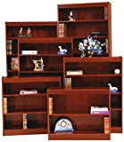Norsons Industries Excalibur Heavy Duty Wood Veneer Bookcase, 84-Inch, Medium Cherry