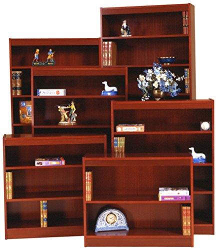 Norsons Industries Excalibur Heavy Duty Wood Veneer Bookcase, 84-Inch, Medium Cherry Bookcase Medium Cherry
