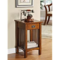 Metro Shop Furniture of America Hand-rubbed Oak Finish End Table