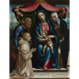 Perfect effect canvas ,the High Definition Art Decorative Prints on Canvas of oil painting 'Sodoma The Madonna and Child with Saints and a Donor ', 10 x 13 inch / 25 x 33 cm is best for Bathroom gallery art and Home artwork and Gifts