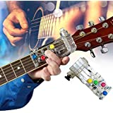 Guitar Beginner One-Key Chord Assisted Learning Tools - Useful Pain-proof Fingertip Playing Guitar Aid - Guitar Learning System Teaching Practrice Aid Chord Buddy (Black)