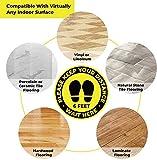 40 Pack Social Distancing Floor Signs, Keep 6
