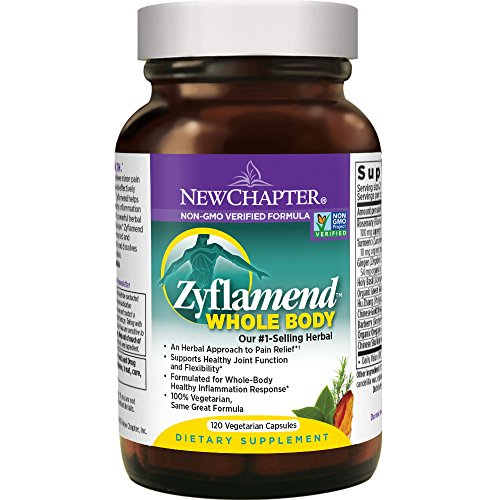 - New Chapter Joint Supplement + Herbal Pain Relief - Zyflamend Whole Body for Healthy Inflammation Response - 120 ct