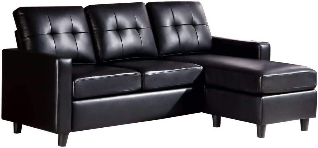 Modern Fabric 3 Seat Sofa Bed Couch Settee with Arms and 2 Soft Cushions