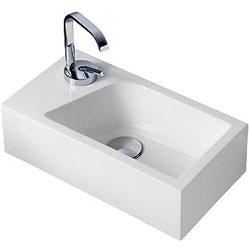 Stilform Mini Waschtisch Gäste WC Waschbecken für Wandmontage ...