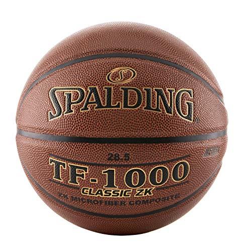Spalding TF-1000 - Balón de baloncesto clásico para interiores, Marrón, 72.3 cm